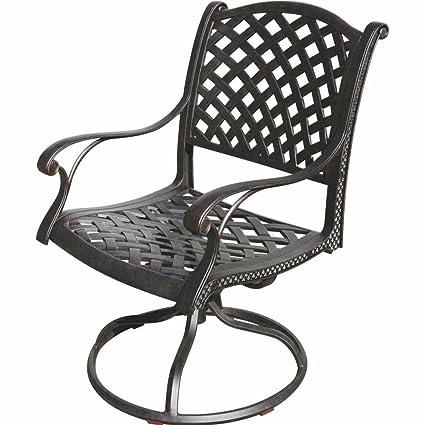 K&B PATIO LD1031-11 Nassau Swivel Rocker Chair, Antique Bronze - Amazon.com : K&B PATIO LD1031-11 Nassau Swivel Rocker Chair, Antique