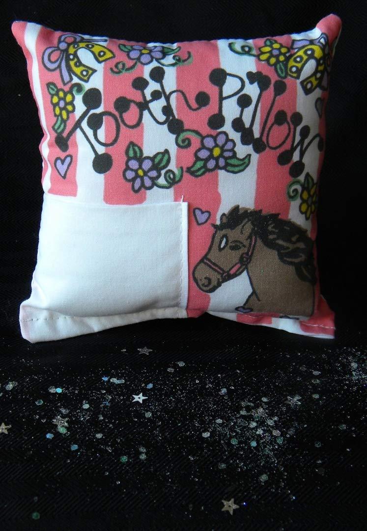 Amazon.com: Morado caballo diente hada almohada con dientes ...
