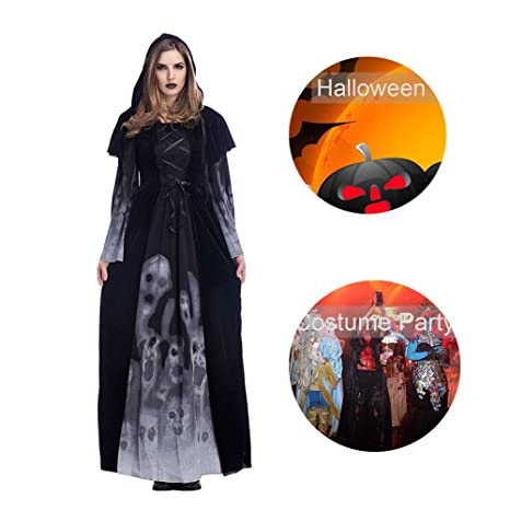RISILAYS Halloween Cosplay Bruja Larga Falda Europa Y América ...
