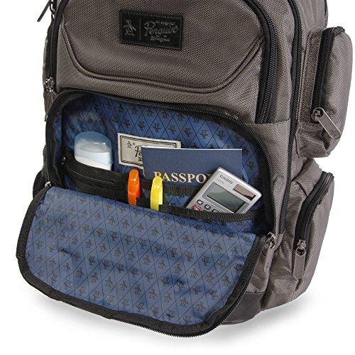 61kPVOE9okL - ORIGINAL PENGUIN Odell 9 Pocket Laptop/Tablet Backpack Briefcase, Charcoal, One Size