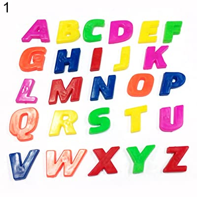 SEniutarm 26Pcs Fridge Magnet Lower/Upper Case Alphabet Letters Number Kid Learning Toy Upper Letters: Toys & Games