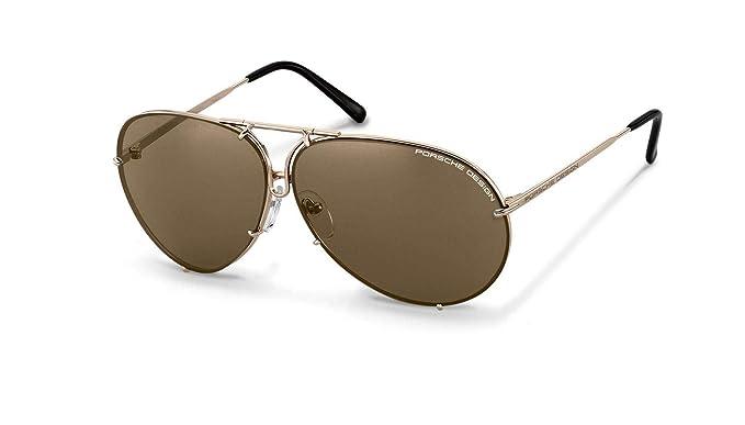 30eb9ffc9ea Image Unavailable. Image not available for. Color  Authentic Porsche Design  P 8478 A Light Gold 69mm Sunglasses
