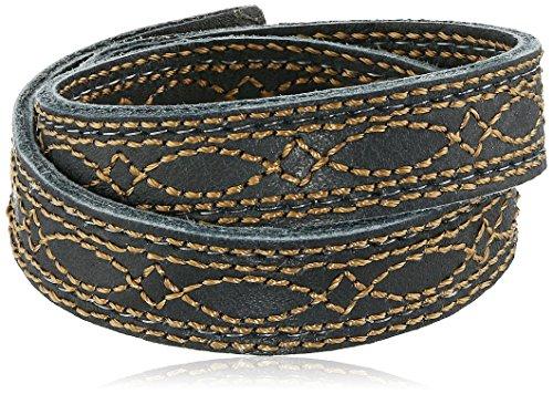 Unisex Campus Stitch Leather Bracelet