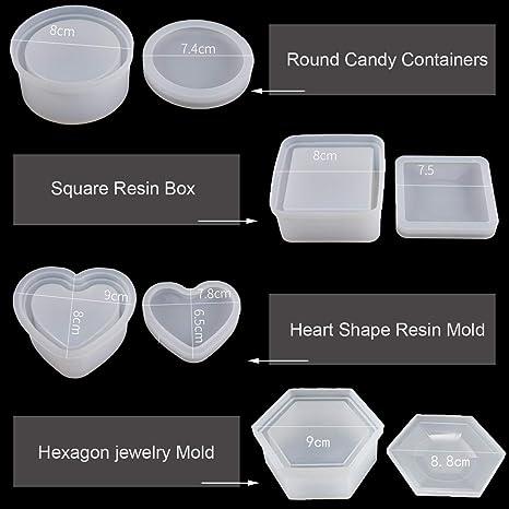Resin \u201ckey to my heart\u201d jewelry box