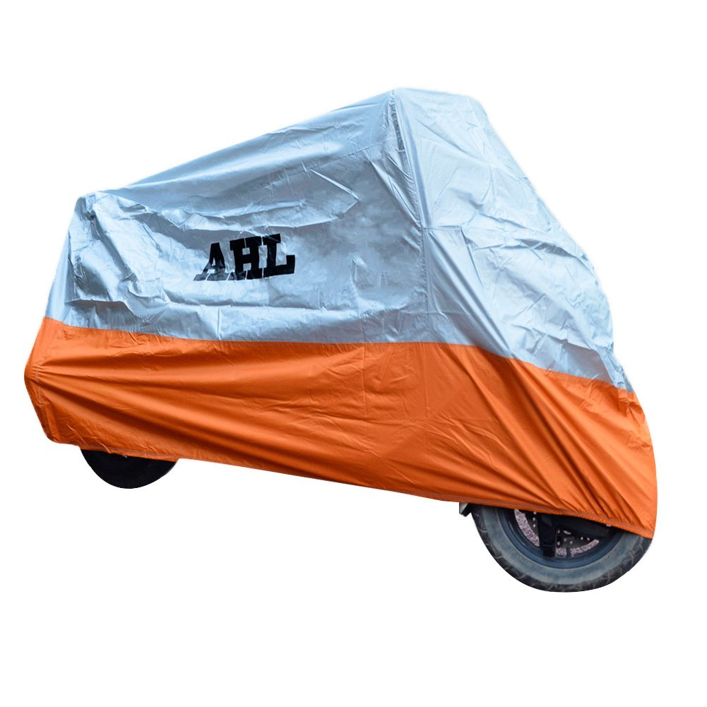 L,B AHL Motorcycle Cover All-Weather Waterproof Dustproof UV Protective Breathable Indoor Outdoor Cover