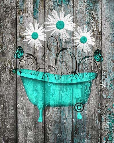 Amazon.com: Rustic Modern Wall Decor, Daisy Flowers ...