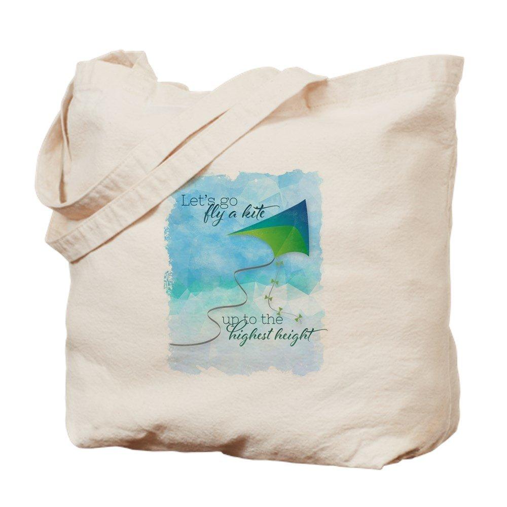 CafePress – Let 's Go Fly A Kite 。 – ナチュラルキャンバストートバッグ、布ショッピングバッグ M ベージュ 13406917576893C B073QT8RXQ MM