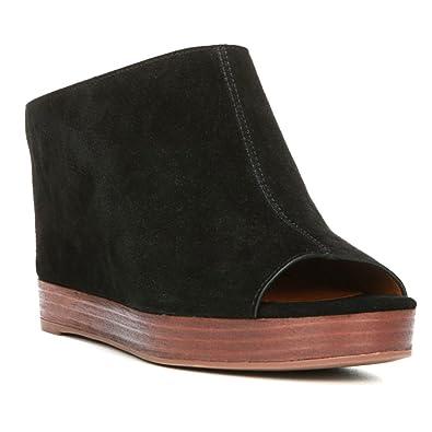 Amazon.com | Franco Sarto Women's Mariam Slip On, Black Lux Brushed Suede,  US 9.5 M | Boots
