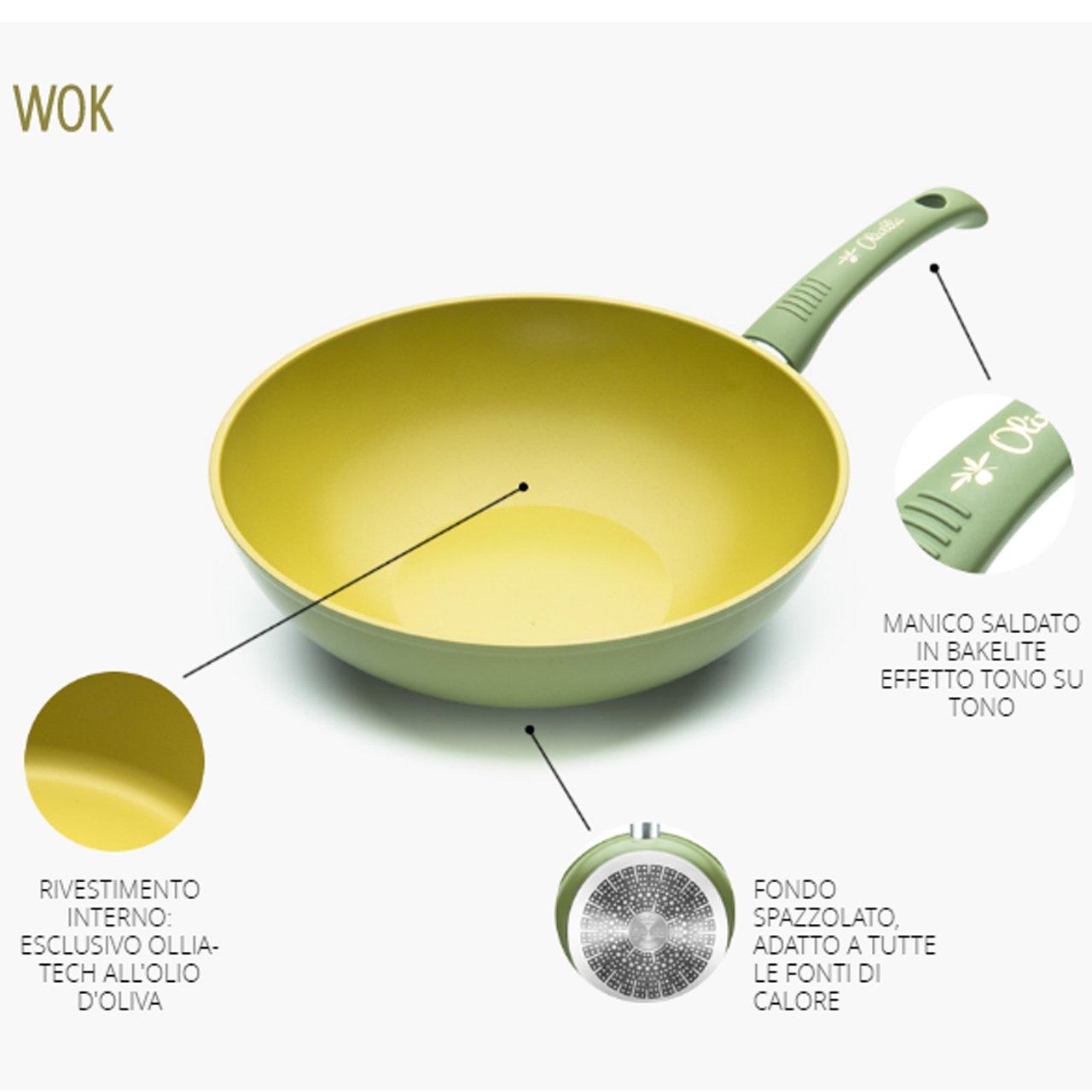 Illa Wok Antiadherente al Aceite de Oliva 100% Made in Italy ...