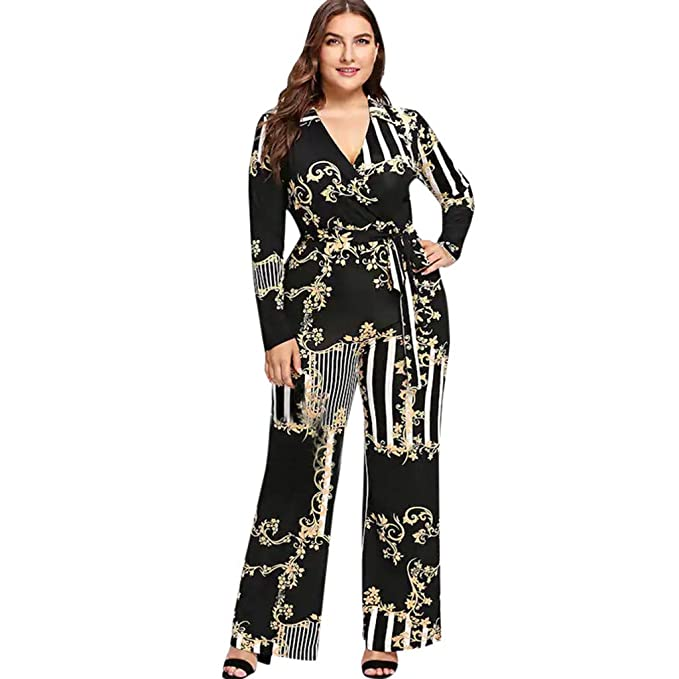0923da8b184a Amazon.com  Orangeskycn Ladies Jumpsuits Wide Leg