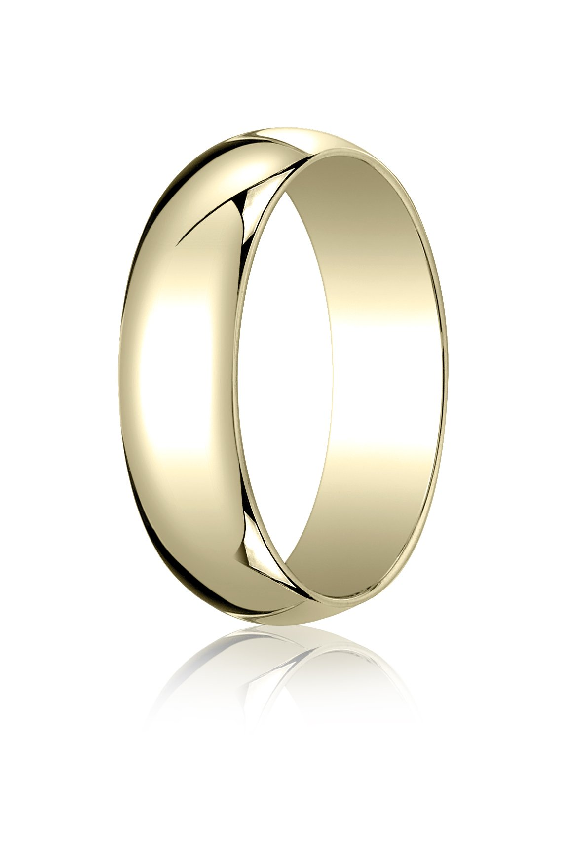 Mens 14K Yellow Gold, 6.0mm Traditional Dome Oval Ring (sz 12)