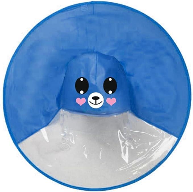 Highpot Kids Cute Raincoat Foldable Hand-Free Umbrella Hat Funny Play Supplies