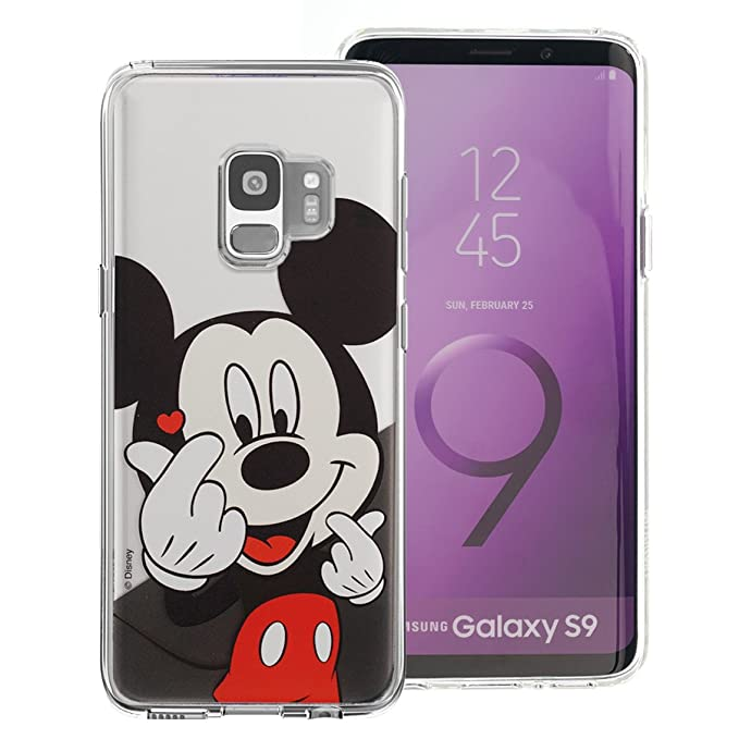 half off dd5a5 40d3c Galaxy S9 Case, Cute Soft Jelly Cover for [ Galaxy S9 (5.8inch) ] Case -  Heart Mickey Mouse