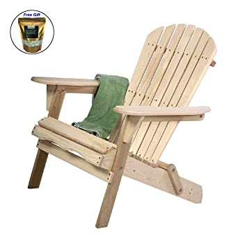 Charmant Amazon.com : COSTWAY Outdoor Foldable Fir Wood Adirondack Chair Patio Deck  Garden Furniture Only By Eight24hours Organic Natural Silk Cocoons : Garden  U0026 ...