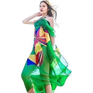 ce7e2e2e74 TopSeller Sexy Womens Chiffon Bikini Summer Beach Swimwear Sarong Wrap Cover  Dress Scarf Pareo