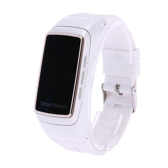 Pulsera inteligente Auricular Bluetooth multifunción Frecuencia cardíaca Cuenta de pasos Podómetro invocable B7 (Negro,