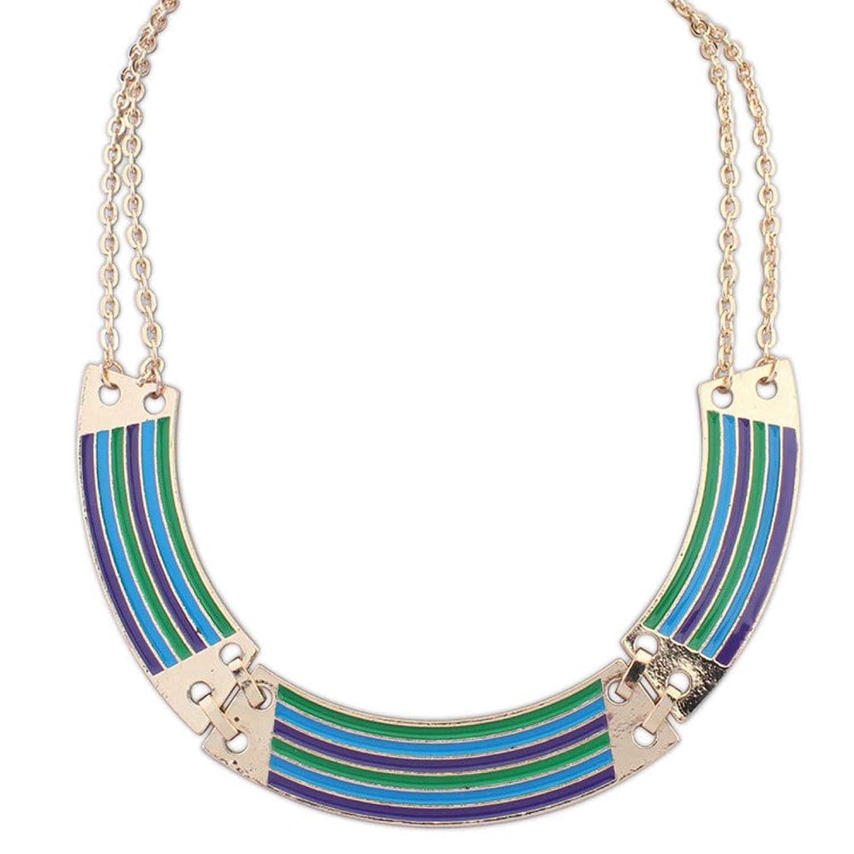 40cm L// 12cm Drop Light Blue Glass Bead V-Shape Tassel Necklace