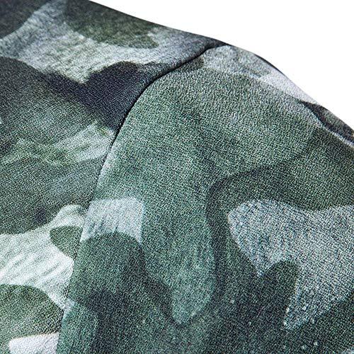 Chaquetas Chaqueta Vuelo Hombres Exteriores Chaqueta Vestir Slim para Chaqueta Colores 9 Moto De De Stand Casual Verde Collar Simple Fit Flores De Prendas Aviador De Estilo Motorista De Vuelo OO5rwZq