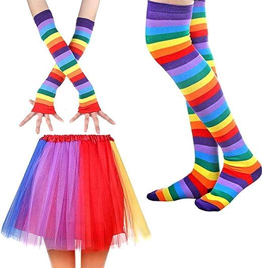 Juego de disfraz de arco iris, guantes Viviani calcetines ...