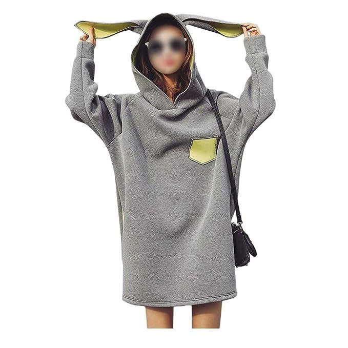 Hzjundasi Maternidad Faldas - Mujer Embarazada Largo Manga Capucha Vestido Linda Impresión Suave Otoño Invierno Más
