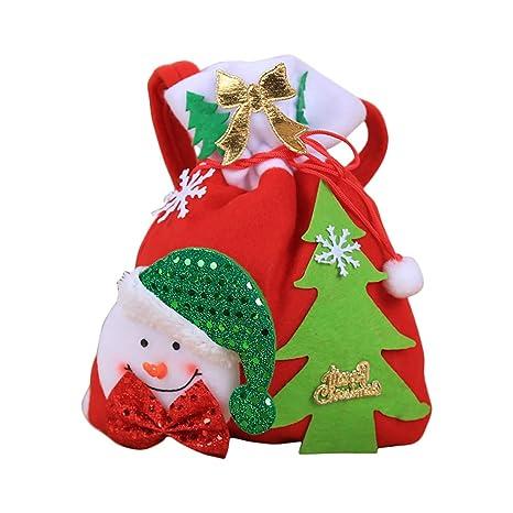 Topdo 1 Pieza Bolsa de Regalo Navidad con Cajas de Tela no Tejida Cuerda Atado Muñeco