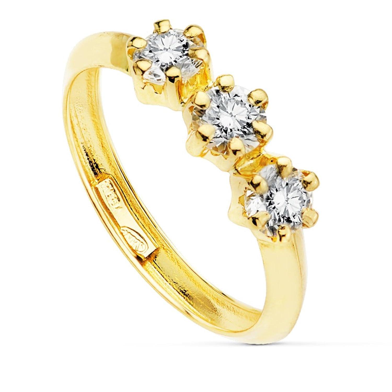 Sortija Mujer oro amarillo Claris Oro K