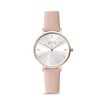 1302 32MM Rose Gold Watches for Women, Womens Watches, Watches for Women, Reloj de Mujer, Womens Wrist Watch, Silver Sunray Dial, Ladies Interchangeable ...