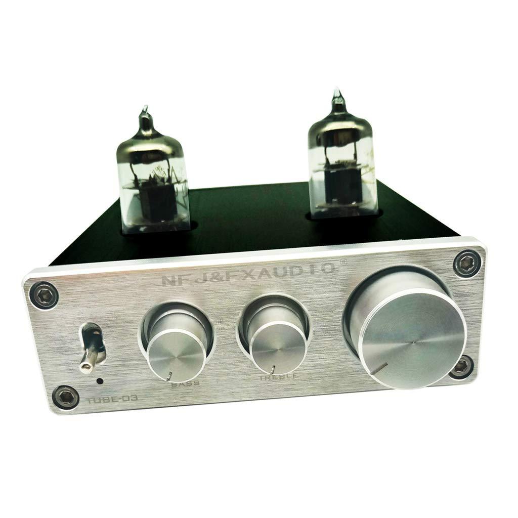 Prettyia Premium DC12V 6J1 Preamp Vacuum Tube Amplifier Buffer Mini HiFi Preamplifier (Pack of 1)