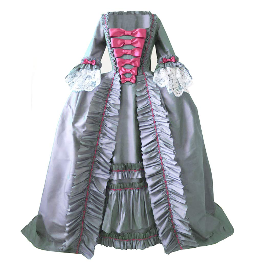 Masquerade Ball Clothing: Masks, Gowns, Tuxedos 1791s lady Womens Victorian Rococo Dress Inspration Maiden Costume $128.90 AT vintagedancer.com