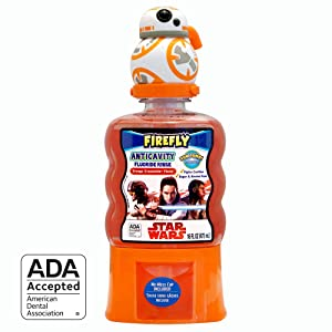 Firefly Anti-Cavity Mouth Rinse - Star Wars BB8 (16 Ounce, Pack of 4)