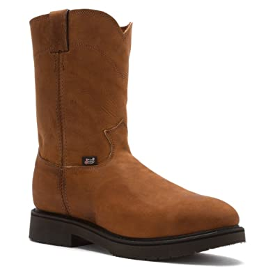 0f5c57305eb Amazon.com | Justin Original Workboots Men's Aged Bark Brown Steel ...