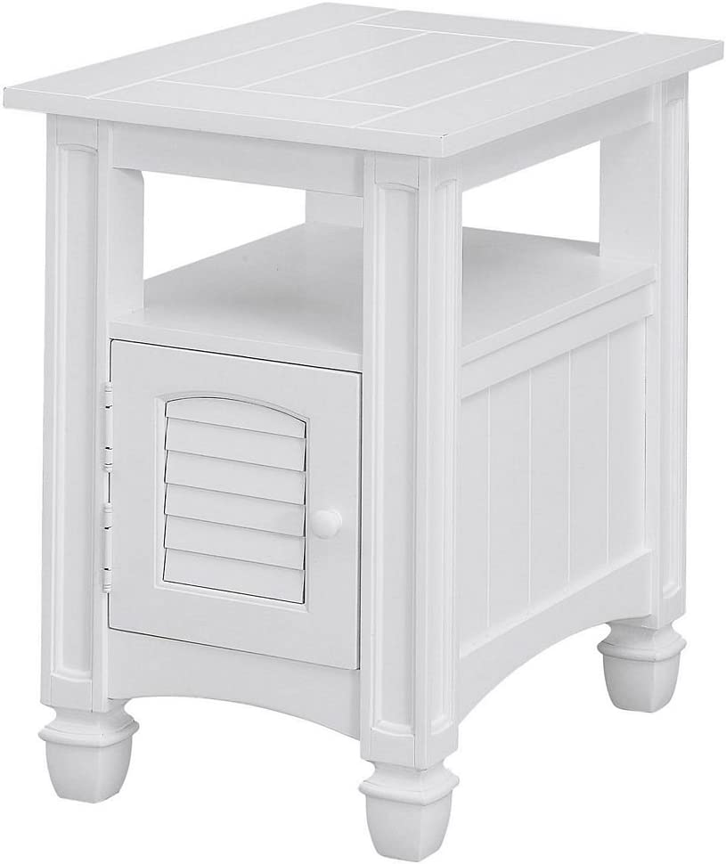 Treasure Trove Accents Harbor Towne Chairside Table, White
