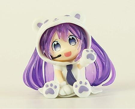 pvc2.5 inch Mini Cute Anime figurees Doll Anime Figurines (Purple)