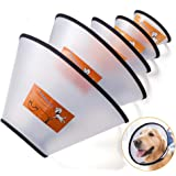Fezep Dog Cone Collar, 5 PCS Adjustable Protective Collars for Pet Dog & Cat, Recovery E-Collar Anti-Bite Lick Wound…