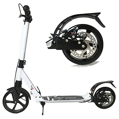 Scooter Patinete Patinete Patada Blanco Plegable con Freno ...