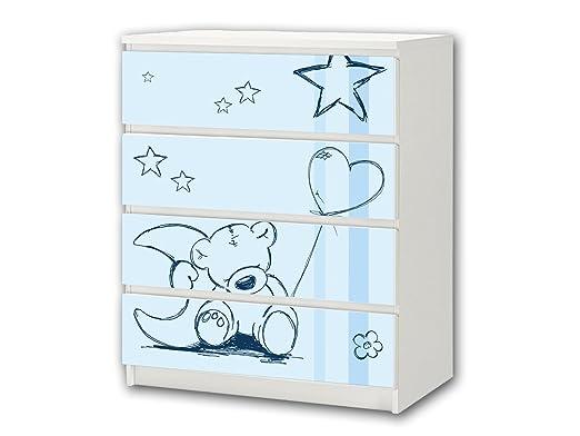 Teddy azul pegatina de muebles | M4K18 | Pegatinas adecuadas para ...