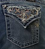 Miss Me Women's Embellished Bootcut Denim Jeans (26x34)