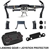 FSLabs DJI Mavic Pro Platinum Accessories Landing Gear Leg Height Extender Riser with Protection Pad + Joystick Remote Control Protector