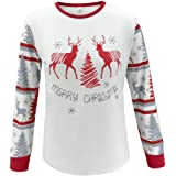 Yezijin Family Pajamas Set, Christmas Print Blouse Tops and Pants Xmas Pajamas Family Pajamas Matching Sets