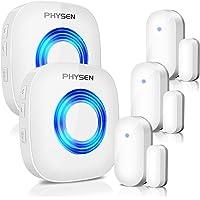 Physen Wireless Door/Window Sensor Chime kit with 3 Magnetic Door Sensors and 2 Receivers