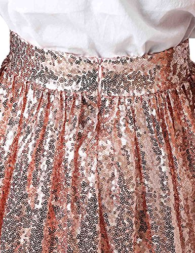 Sequins anmor Skirt Gold Skirt AR12025 Women's Midi Line rose A Midi Causual Mine 6Fr4SxwFOq