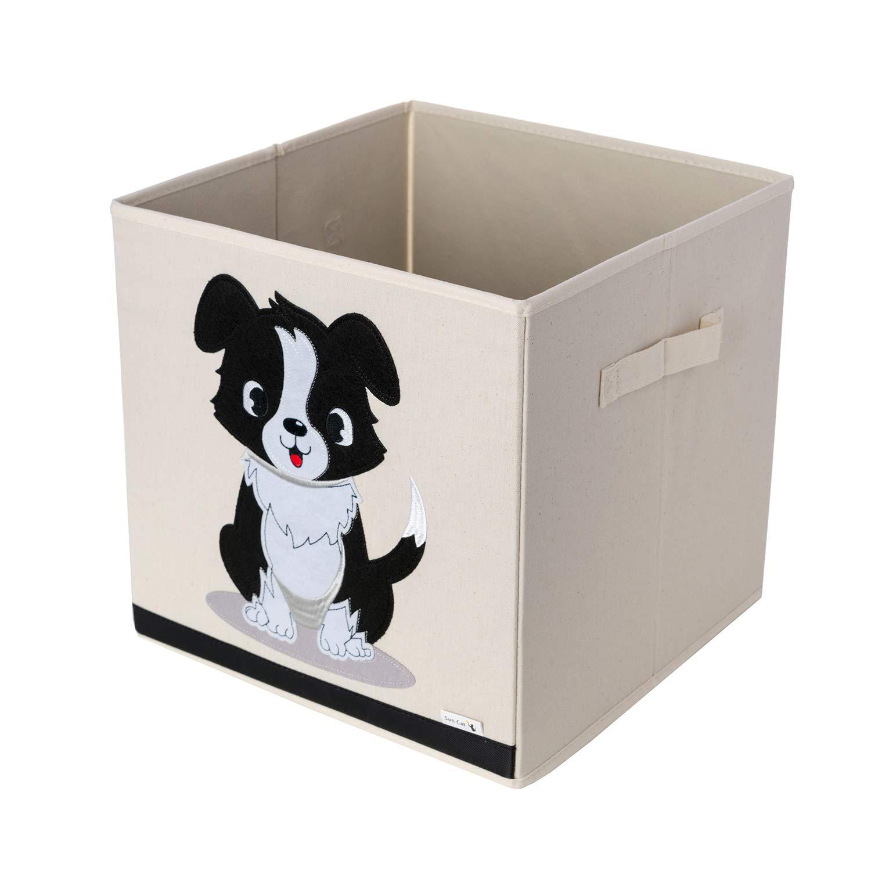 verst/ärktem Canvas-Stoff 33x33x33cm W/ürfel mit Hunde-Motiv von Sun Cat Aufbewahrungsbox und Organisator f/ür Kinderspielzeug aus strapazierf/ähigen