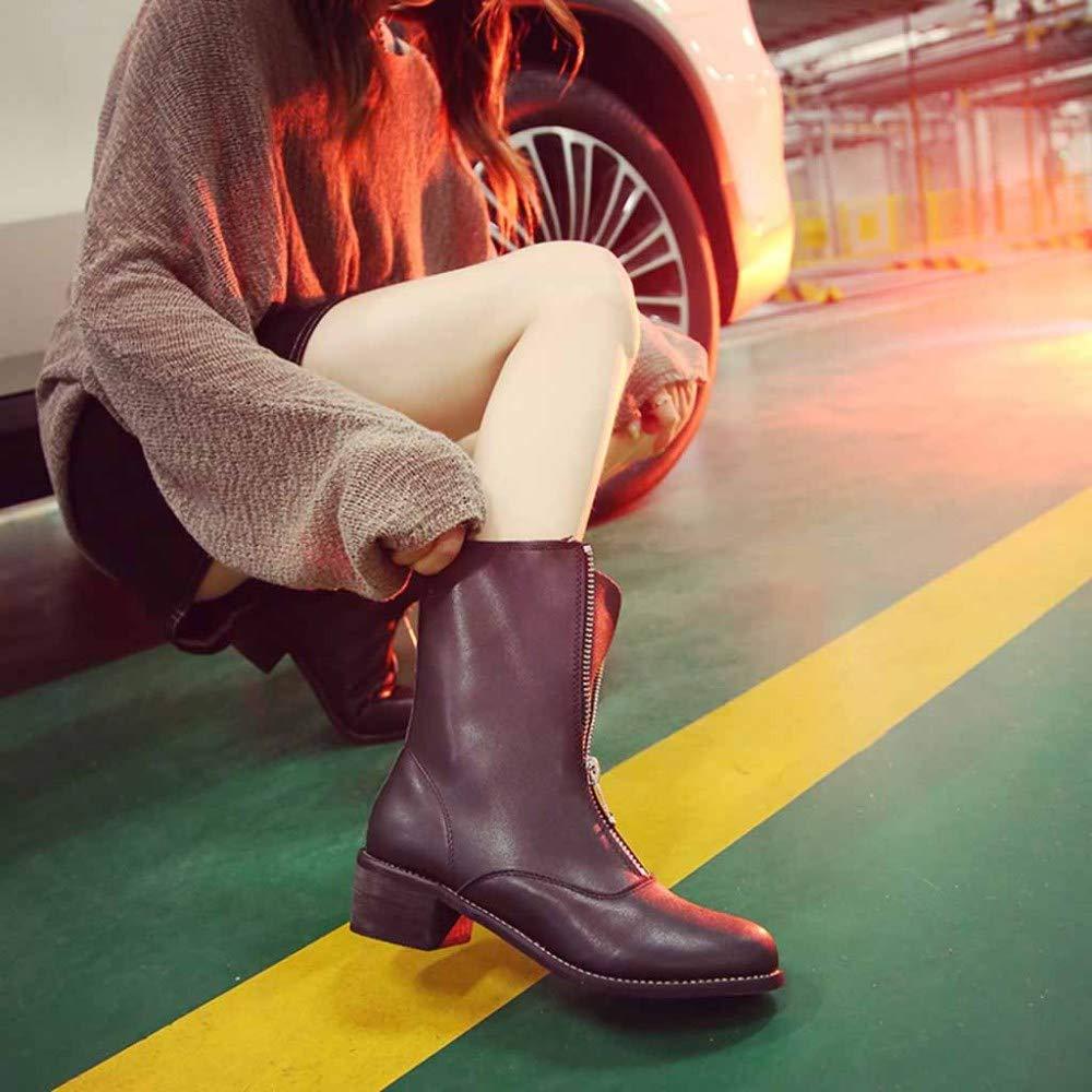 Komfortable Anti-Slip Martin Stiefel Reißverschluss Student Damen Leder Stiefeletten Stiefeletten Stiefeletten c70e01