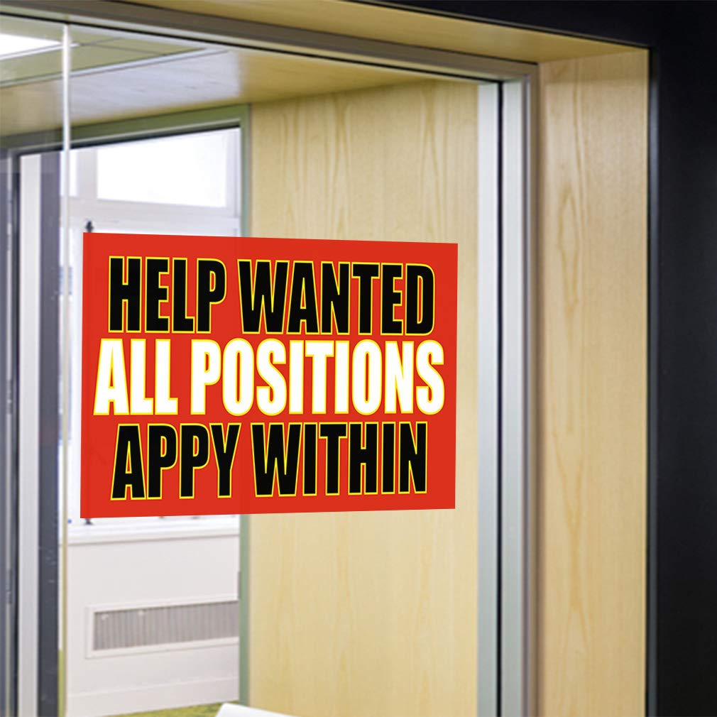 Decal Sticker Multiple Sizes Help All Positions Apply Within Business Wanted Outdoor Store Sign Orange Set of 2 54inx36in