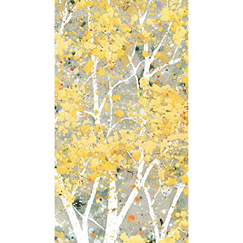 Paperproducts Design 1412278 Guest Towel with Birch Trees, Yellow Gold Design, 5 x 8