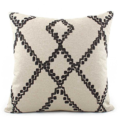 Chloe & Olive Boho Southwestern Chevron Throw Toss Pillow - Black and Cream - Size Options 18