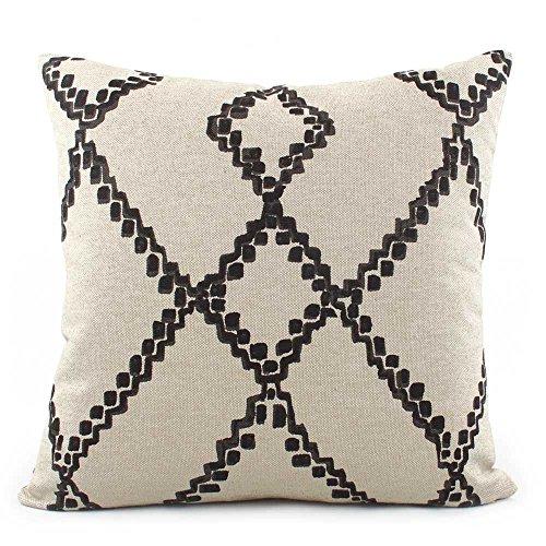 Chloe & Olive Boho Southwestern Chevron Throw Toss Pillow - Black and Cream - Size Options 18