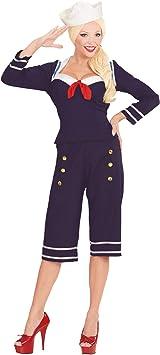WIDMANN 00342 - Adult Costume 50s Pin Up Marinero, Camisa, Pantalones y Sombrero, Talla M: Amazon.es: Juguetes y juegos