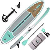 Drift Inflatable Stand Up Paddle Board, SUP with Accessories | Coiled Leash, Pump, Lightweight Paddle, Fin & Backpack Travel