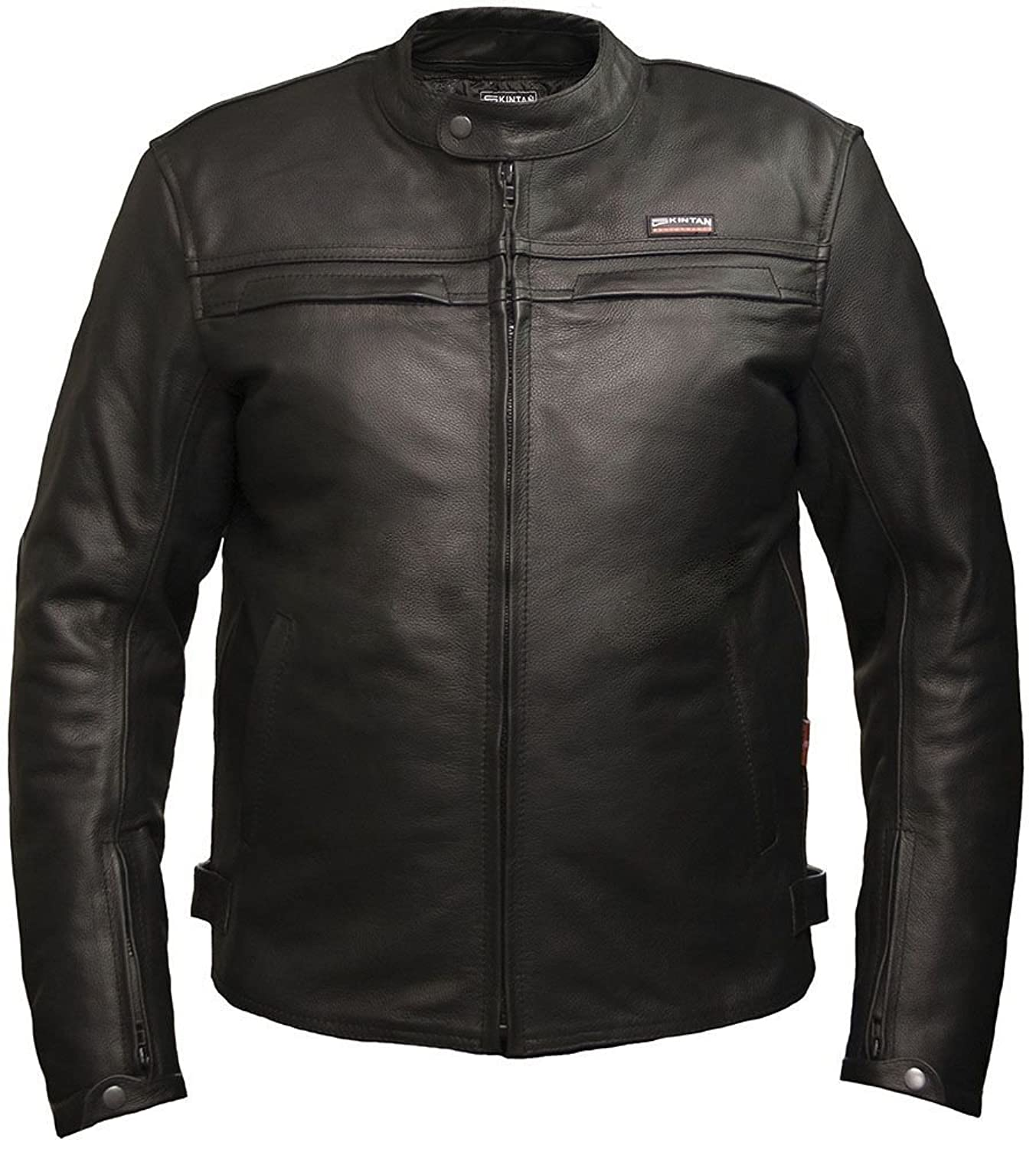 Leather Motorbike Jacket By Skintan Mens CE Armoured